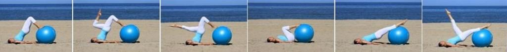 www.MANphotography.com yoga Ball pilates yoga on the beach by Cathy Same Lottin Waves, beach & health center Zandvoort strand