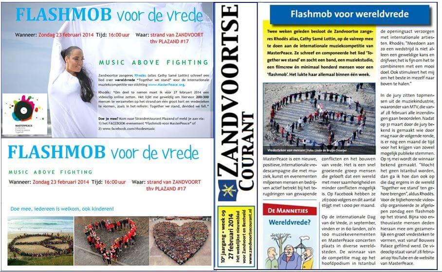 Collage flashmob en Zvrtse courant feb 2014