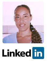 Linked-in logo en profielfoto Cathy Samé Lottin