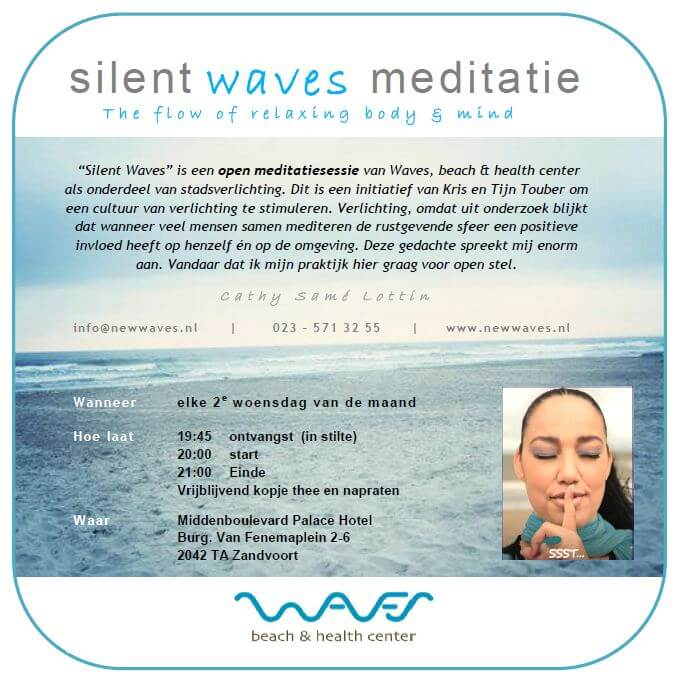 Stadsverlichtingmeditatie Tijn Touber bij Cathy Samé Lottin - Waves beach & health center
