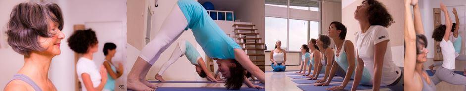 Yoga-pilates lessen Waves, beach & health center door Cathy Samé Lottin