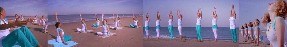 Stillphotos of the video by Tijs van den Donk Yoga pilates Waves, beach & health center Zandvoort strand Cathy Samé Lottin