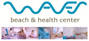 Waves, beach & health center logo